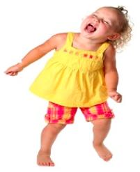 Smejúce sa dievčatko